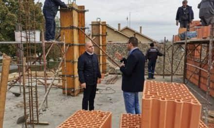 Председник општине обишао радове на изградњи нове зграде Месне заједнице Нова Гајдобра