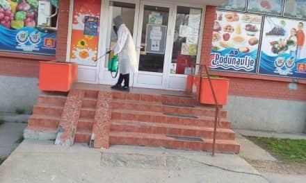 Извршена дезинфекција свих улаза у јавне установе и супермаркете